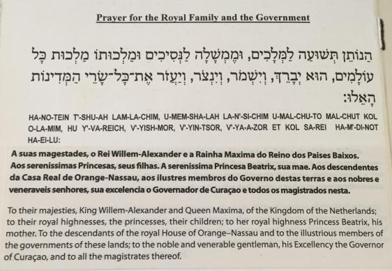 prayer for the Dutch Royal Family